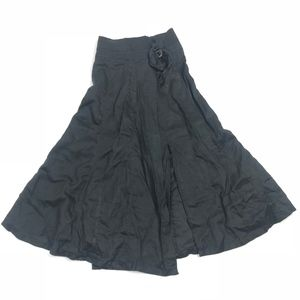 Zara Basic Maxi Skirt Black M #1928